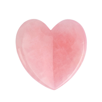 Heart Shape Natural Rose Quartz Gua Sha Facial Massage Natural Scraping board Body Scraper Crystal Scratching