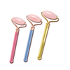 Single-end Rose Quartz Roller and Skin Gym Face Facial Roller for Face Massager Tool