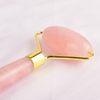 Single-end Rose Quartz Face Roller Natural Rose Quartz Stone Facial Massager Tool for Anti Aging, Reduce Wrinkles, Improve Lymphatic Drainage