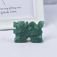 1.5 inch/2 inch Hand Carved Natural Green Aventurine Stone Miniatur Flying Dragon Figurines