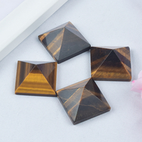 Craved Natural Tiger Eye Stone Pyramids