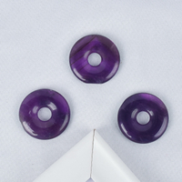 Natural Amethyst Gemstone Donut Carved Crystal Gemstone Donut