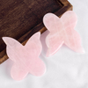 Butterfly Shape Gua Sha Facial Massage Tool Natural Rose Quartz Scraping board Body Scraper Crystal Scratching