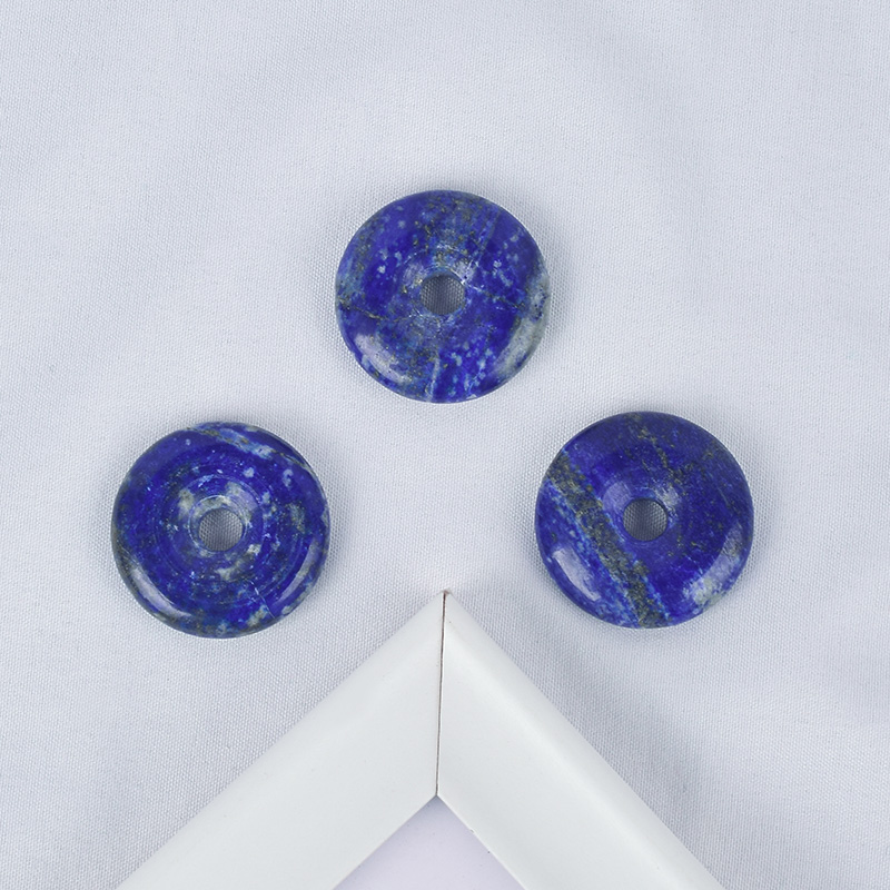 Natural Lapis Lazuli Gemstone Donut Carved Crystal Gemstone Donut