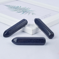 Natural Blue Sandstone Points Hexagonal Wand