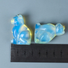 Hand Carved Natural Opalite Stone Small Cat Figurines Gemstone Craft