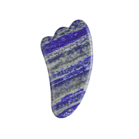Horn Shaped Lapis Lazuli Stone Gua Sha Massage Tool Natural Scraping board Body Scraper Crystal Scratching