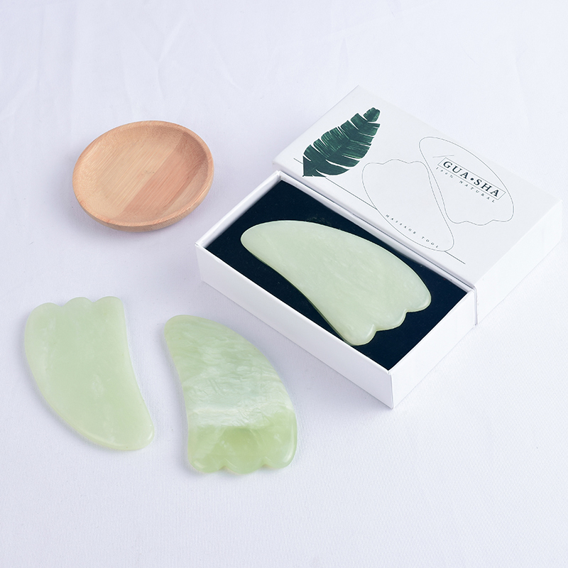Horn Shaped Xiuyan Jade Gua Sha Massage Tool Natural Scraping board Body Scraper Crystal Scratching