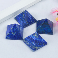 Craved Natural Lapis Lazuli Stone Pyramid Pyramids