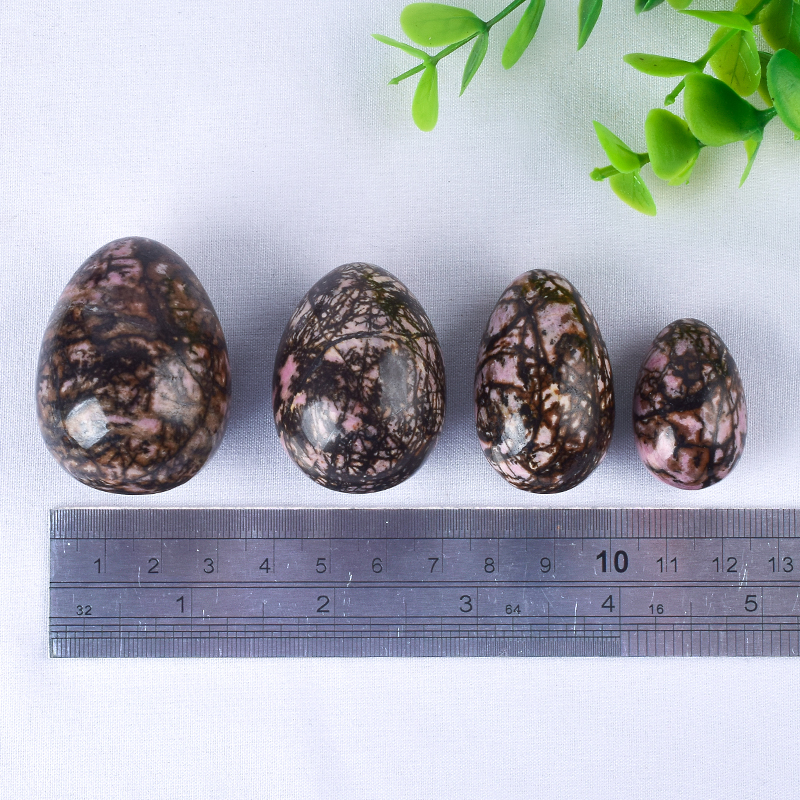 Undrilled Pink Zebra Jasper Yoni Eggs Massage Jade egg to Train Pelvic Muscles Kegel Exercise