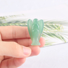 1.5 Inch Natural Green Aventurine Stone Small Carved Crystal Angel Figurine