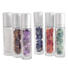 10ML Essential Oil Glass Crystal Roller Ball Bottle Natural Semiprecious Stones Transparent Glass Roll-on Bottles