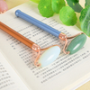 Single-end Green Aventurine Roller and Skin Gym Face Facial Roller for Face Massager Tool