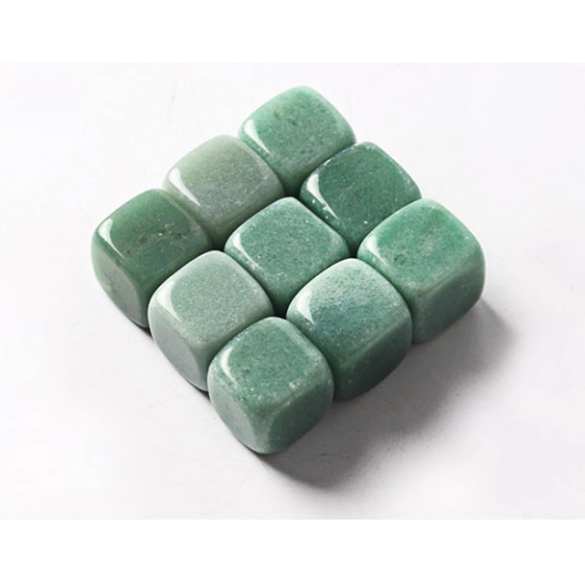 Natural Green Aventurine Whiskey Stones Gemstone Whiskey Ice Stone
