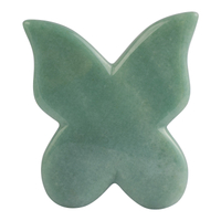 Butterfly Shap Green Aventurine Stone Gua Sha Facial Massage Tool Natural Green Aventurine Scraping board Body Scraper Crystal Scratching