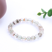 Natural Green Ghost Recruiting Financial Transfer to Assist the Cause Crystal Bracelet