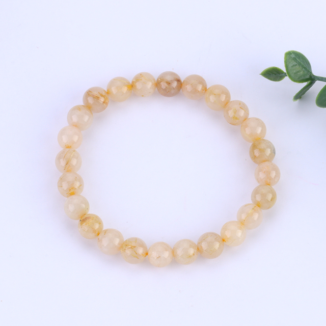 Natural Blond Crystal Single-Loop Hand String